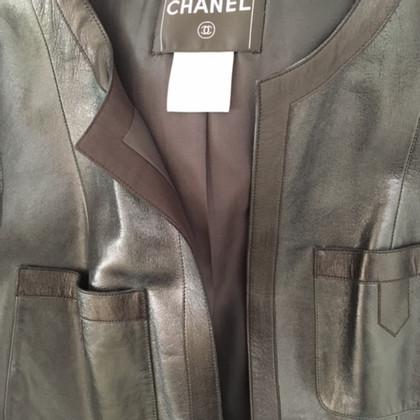 Chanel cappotto di pelle con maniche corte