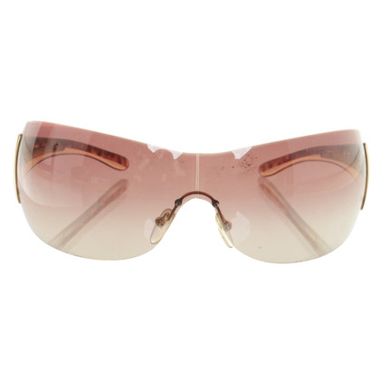 Prada Monoshade occhiali da sole marrone