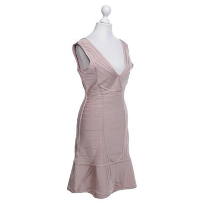 Hervé Léger Figurbetontes Kleid in Nude
