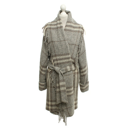 Burberry Knitted coat with fringe decors