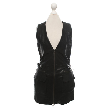 Pierre Balmain Leather vest in black