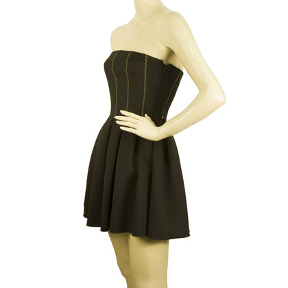 Philipp Plein Super Mini Strapless Black Dress