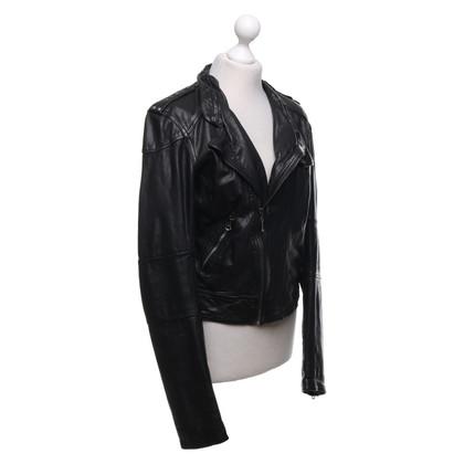 Levi's Leren jas in biker-stijl