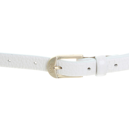 Hugo Boss Leather belt in white