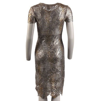 Oscar de la Renta Dress in silver / gold