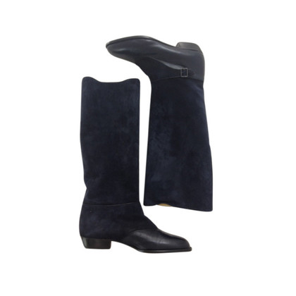 Cerruti 1881 Smooth leather and boots velour-