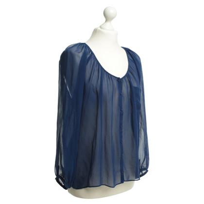 American Vintage Seidenbluse in Blau