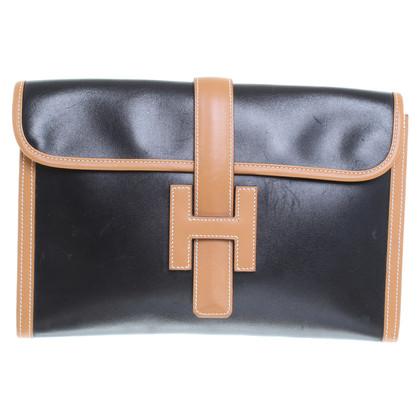 Hermès clutch in Black/Brown