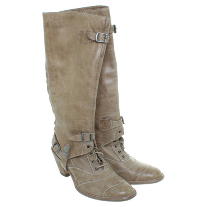 Belstaff Lace ankle boots with gaiters