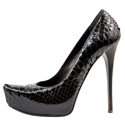 Gianmarco Lorenzi pumps from python leather