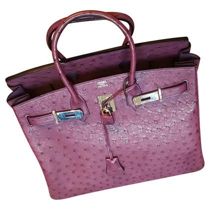 "Hermès ""Birkin Bag 35"" made of ostrich leather"