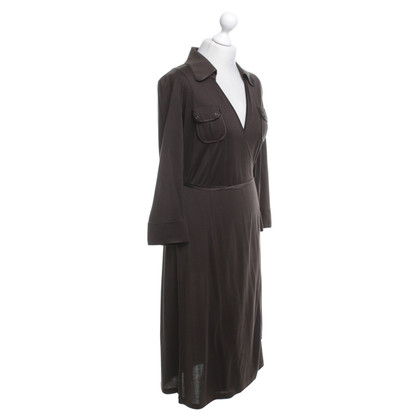 Laurèl Wrap dress in brown