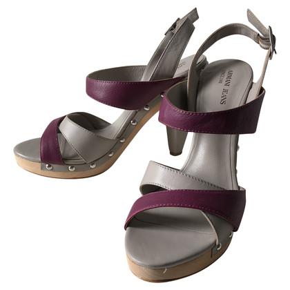 Armani Jeans Leren sandalen