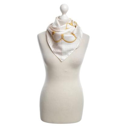 Gucci Sciarpa di seta con stampa grafica