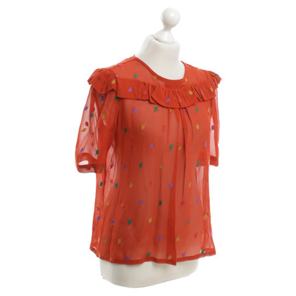 Marc by Marc Jacobs Bluse in Rot