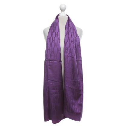 Hermès Schal in Violett