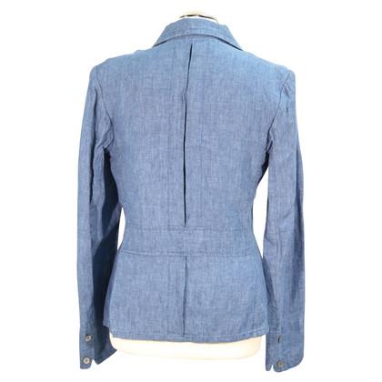 Ralph Lauren Linnen jas in blauw