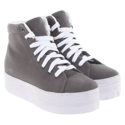 Jeffrey Campbell Plateau sneakers in taupe