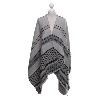 Lala Berlin Knit poncho with pattern