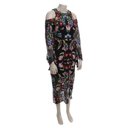 Thurley Gehaakte jurk in kleurrijke