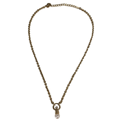 Christian Dior Necklace with pearls pendant