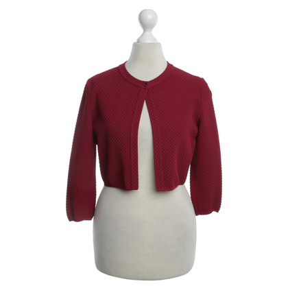 Alaïa Bolero in Bordeaux red