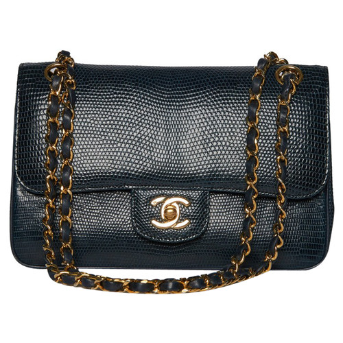 195415c70bc5 Chanel Classic Double Flap Bag Small Lizard - Second Hand Chanel ...