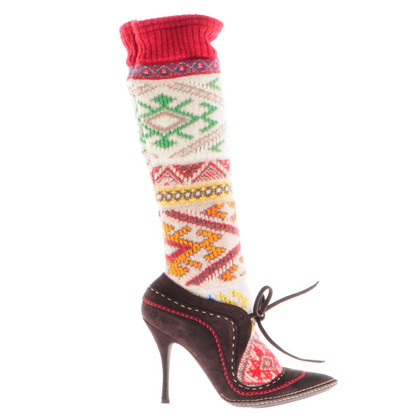 Alexander McQueen Boots with knitted leg