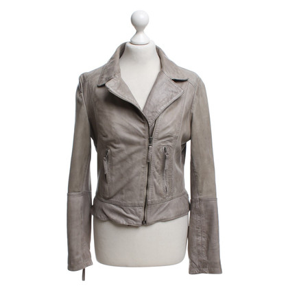 Arma Leather Jacket in Gray