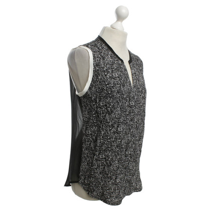 Sandro Top in black / white