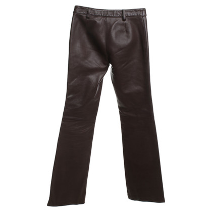 Dolce & Gabbana Leather pants in brown