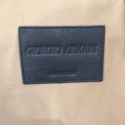 Giorgio Armani Giacca in pelle di agnello