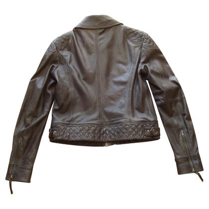 Marc Cain Leather jacket lamb nappa