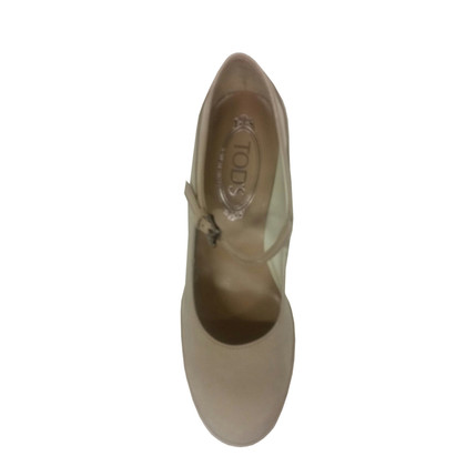 Tod's Mary Jane Pumps in Beige