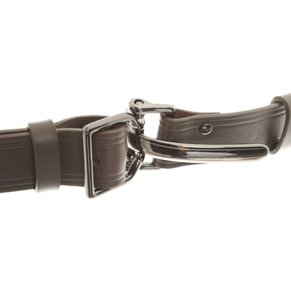 Schumacher Leather belt with clip closure