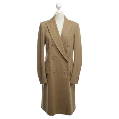 Dries van Noten cappotto di cotone beige