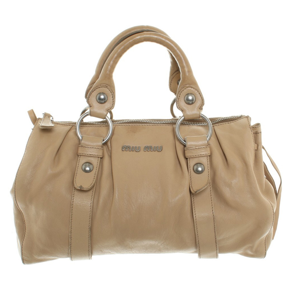 miu miu tasche in beige second hand miu miu tasche in beige gebraucht kaufen f r 150 00. Black Bedroom Furniture Sets. Home Design Ideas