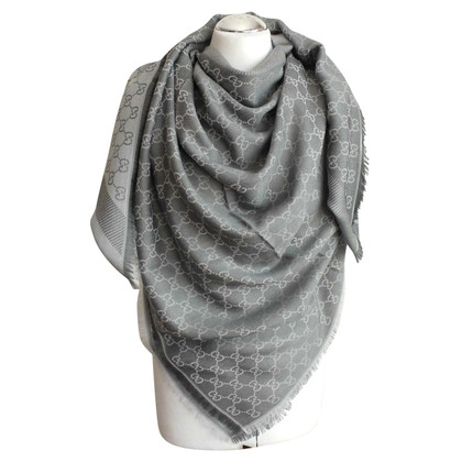 Gucci GUCCI GGWEB GRAY NEW SCARF NOOIT WORN