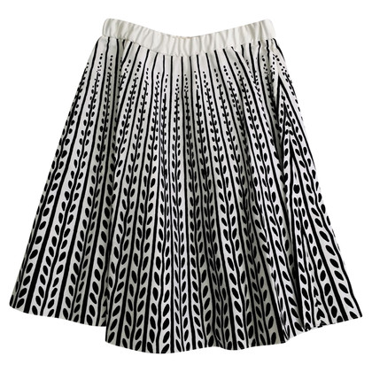 Marni White skirt with black print