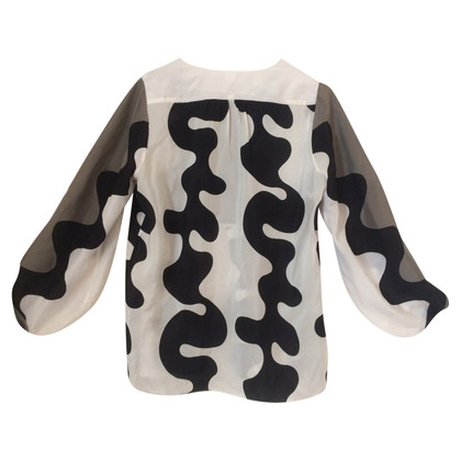 Diane von Furstenberg Tunic blouse with trumpet sleeves