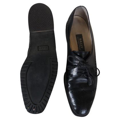 Bally zwart Veterschoenen