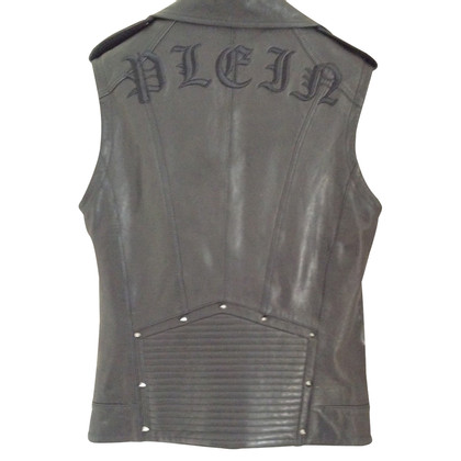 Philipp Plein leather vest