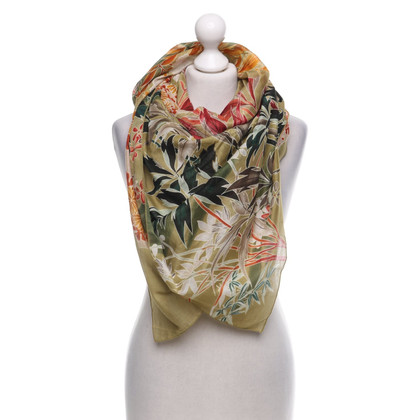 Gucci Grande sciarpa con stampa floreale