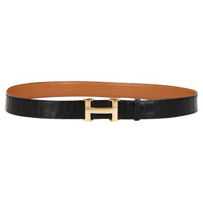 "Hermès ""Constance Belt"" made of crocodile leather"
