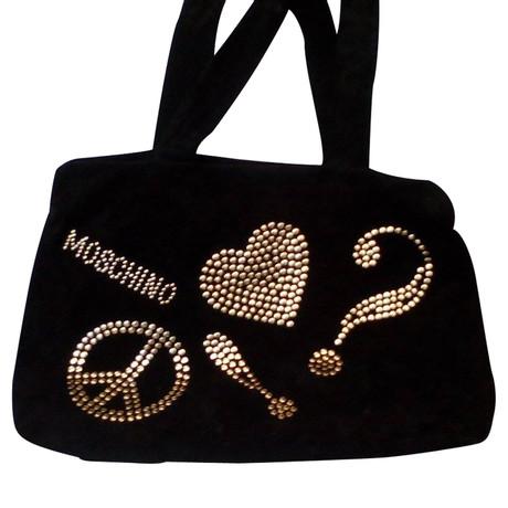 Moschino Vintage Tote Tasche Schwarz Outlet-Store Online Visa-Zahlung Günstiger Preis Countdown-Paket Wo Findet Man Spielraum Breite Palette Von 1exF93