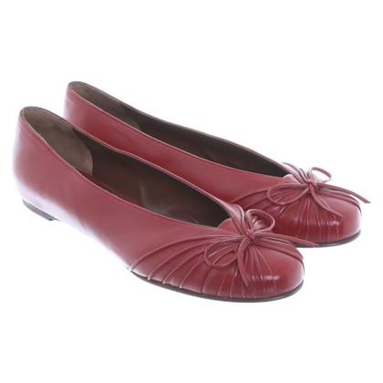 Salvatore Ferragamo Ballerina's in het rood