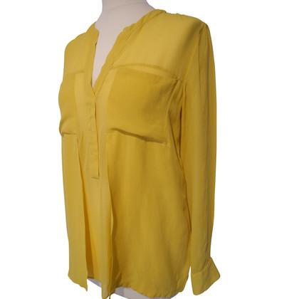 René Lezard Semi-transparent silk blouse