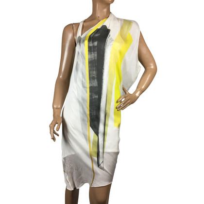 Helmut Lang Asymmetrical silk dress