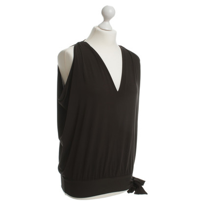 Max Mara top in dark brown