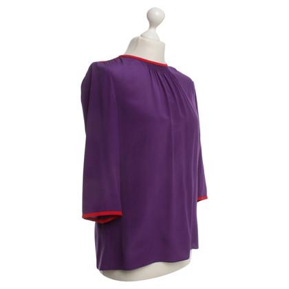 Prada Zijden blouse met rode details